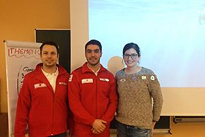 Abdul Fakhouri in Niederösterreich mit Rot Kreuz-SozialbegleiterInnen